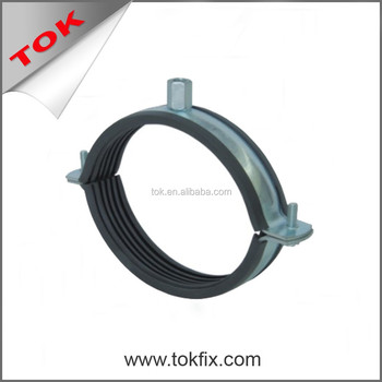 Standard Pipe Clamp kingfix pipe clamp hanger with rubber