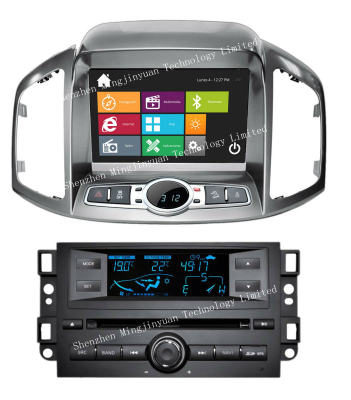 Car DVD player with GPS for Chevrolet Captiva 2011 with design similar to Windows8