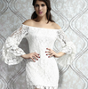 W72065G 2016 wholesale new design a-line lace women dress sexy prom dress