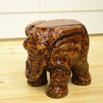 home decorative sculpture elephant foot stool