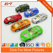 Free wheel small metal toys diecast cars model 6pcs