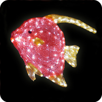 NEW products 2016 wedding favors led fish for decor home
