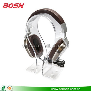 Acrylic Headphone Holder, Acrylic Headset Display, Acrylic Headphone Stand