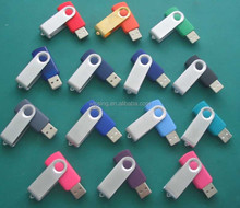 Rotary Metal USB flash driver/ metal clip swivel USB stick