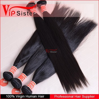 Vip Sister good feedback 100% virgin human hair weaves straight hair pictures color #2 peruvian hair