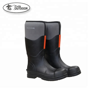 Mens Waterproof Neoprene Rain Boots with Steel Toe Outdoor Rain Boots