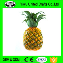 "Artificial Medium Pineapple 7"" Plastic Decorative Fruit Yellow Pineapples Fake"