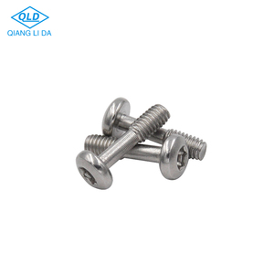 stainless steel torx drive round head end threaded security screw