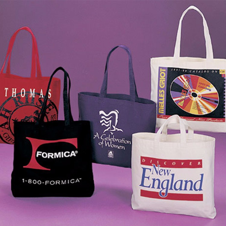 eco friendly cotton material fabric photo print tote bags