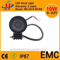 High Quality Round Flood 10~30V DC 10W 12V LED CREES IP67 Pods light for Motorcycle, Truck, ATU, Car