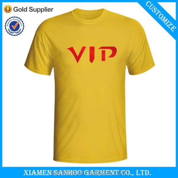 Cheap Election Campaign Yellow Color Custom Tee Shirts Printing