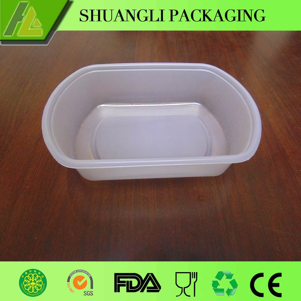 disposable fast food plastic packaging box