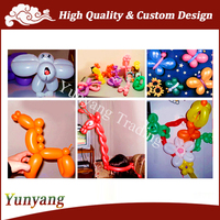 Various kinds of balloons, long balloon decoration