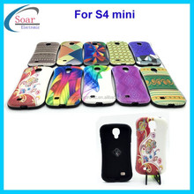 customed design fancy cute hard case combo cover case for samsung galaxy s4 mini