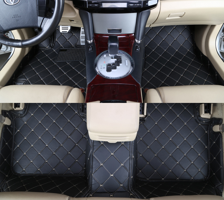 Universal car cover interior faux Leather Soft Car seat cover set Pad Mat Chair Cushion for Car-Beige