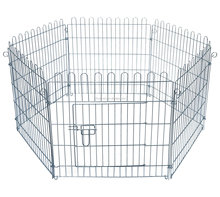 ndoor/ Outdoor Galvanized Lightweight Puppy Enclosure Run Play Pen, 6 Pieces