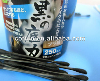 black cotton swabs for ear use