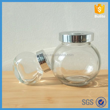 fancy glass spice bottles Shaped Glass Candy Jars wholesale 180ml