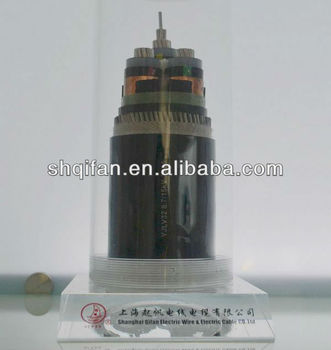 Al condctor XLPE insulation PVC jacket steel wire armored power cable