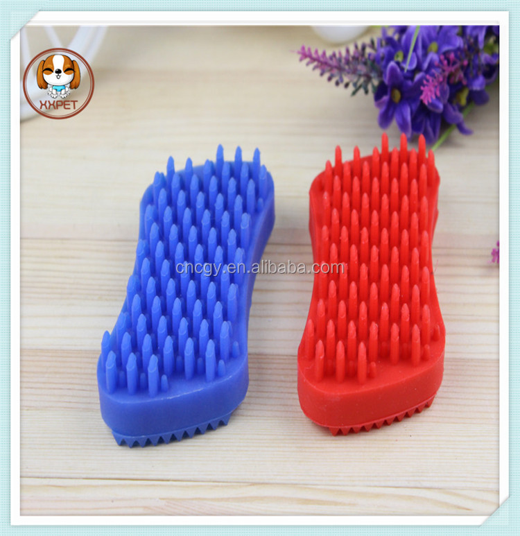 Yiwu Factory Cheap Price Silicone Pet Brush, Pet Brush Grooming Tool Dog + Cat Silicone Handle