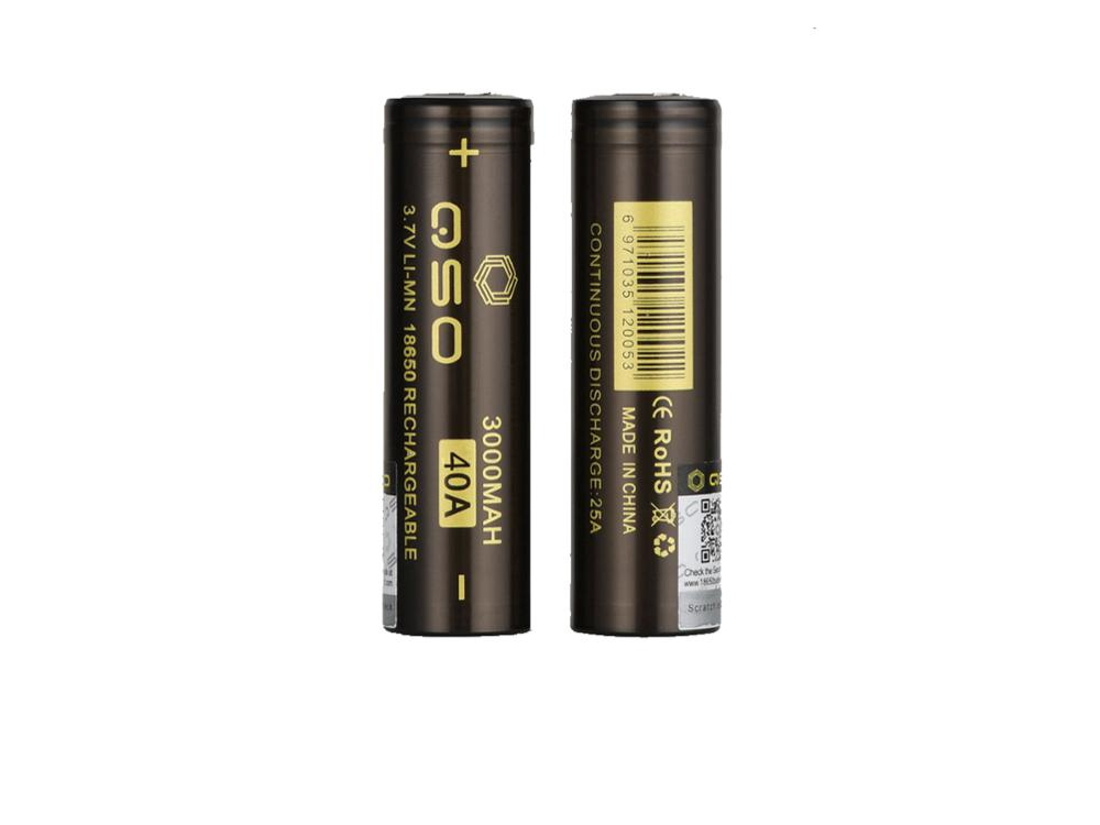 Rovari/vaporizer mods new QSO 18650 40amp battery IMR 18650 3000mAh 3.7V 40A battery, 18650 40a,18650