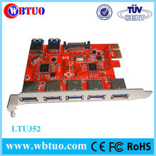 Wholesale desktop Pci-e Expansion Card 5 Ports USB 3.0 PCI-Express Card