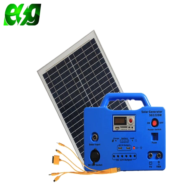 ESG Most Popular 30W Portable <strong>Solar</strong> Charged <strong>Solar</strong> Powered Lantern Lighting System