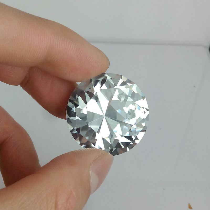 Factory cheap price bulk glass crystal diamond for holiday gifts