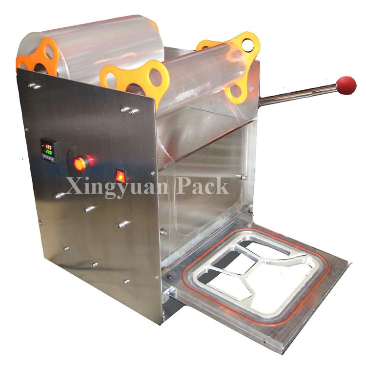 Manual Desktop fast food box/tray sealing machine/tray sealer