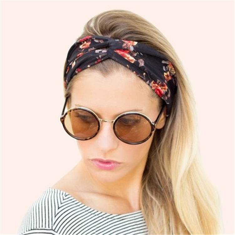 Mother latest Turban Headband-teenagers floral flower print head wrap-cotton elastic Headbands for women