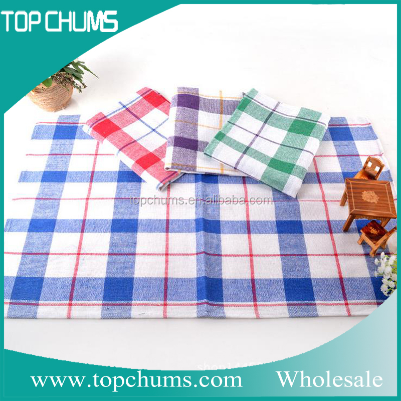 High quality cotton bulk kitchen custom printed tea towels