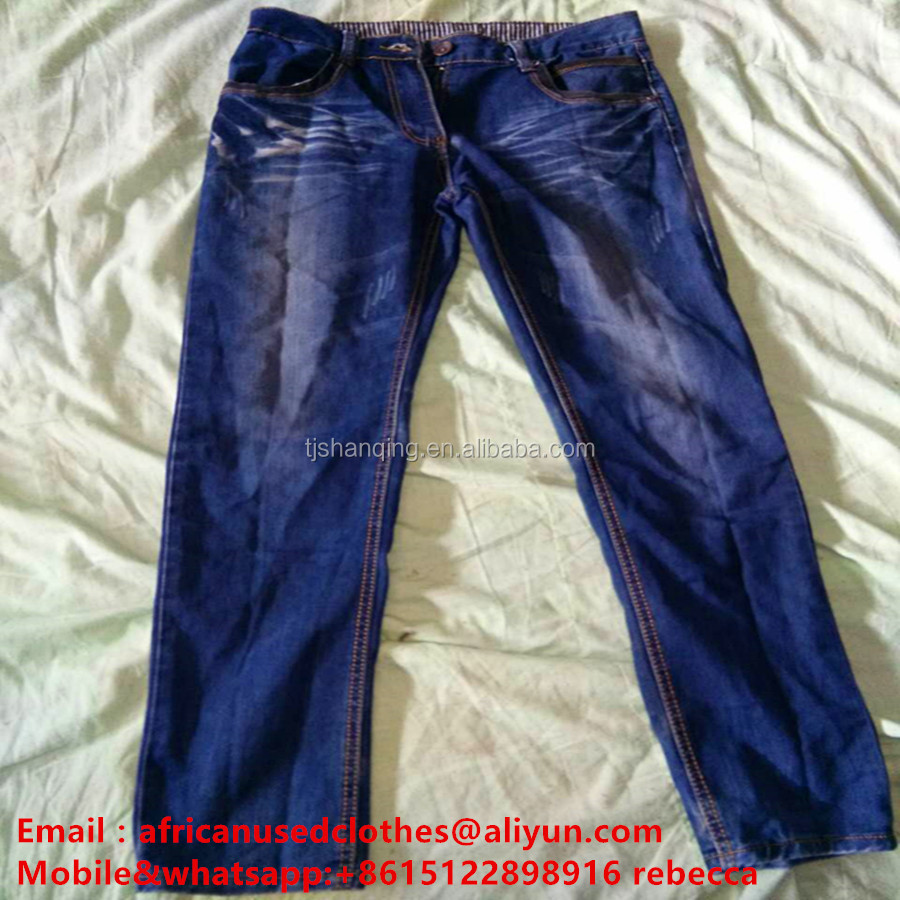 secondhand clothes/ secondhand clothing higher abrasive resistance jeans