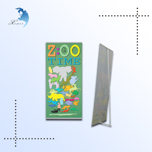 Trade show printed banner display, x banner, promotional banner