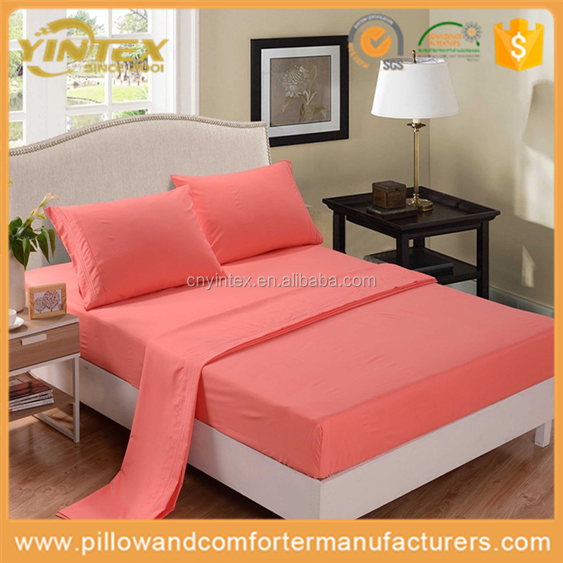 Embroidered Microfiber Fabric Bed Sheet Sets