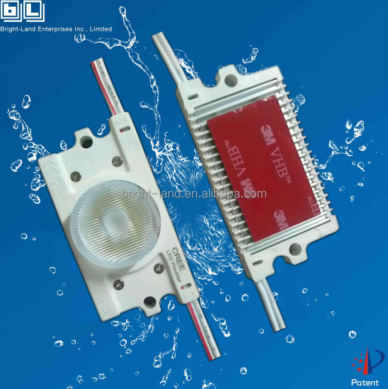 UL&TUV Waterproof Led Module IP68 / 3W Injection Molding LED Module Red Tupe/ Backlight/ Channel Letter