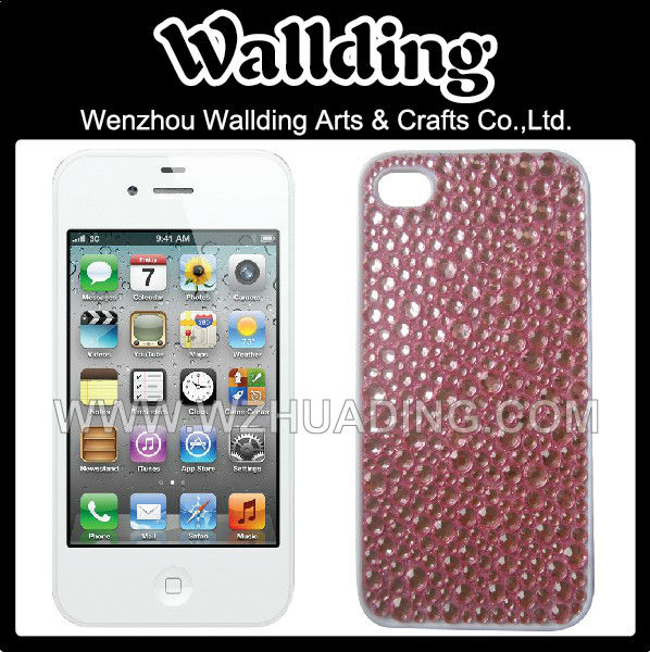 Rhinestone acrylic cell phone case for iphone 5