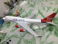 new product rc model plane/flying aeroplane toys/Virgin Atlantic airline customized B747-400 47cm plane