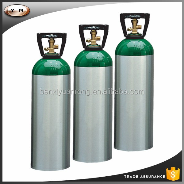 Aluminium oxygen cylinder/used oxygen tanks for sale