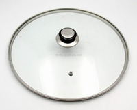Top quality 30 cm thickness 4mm cookware glass lid for pots