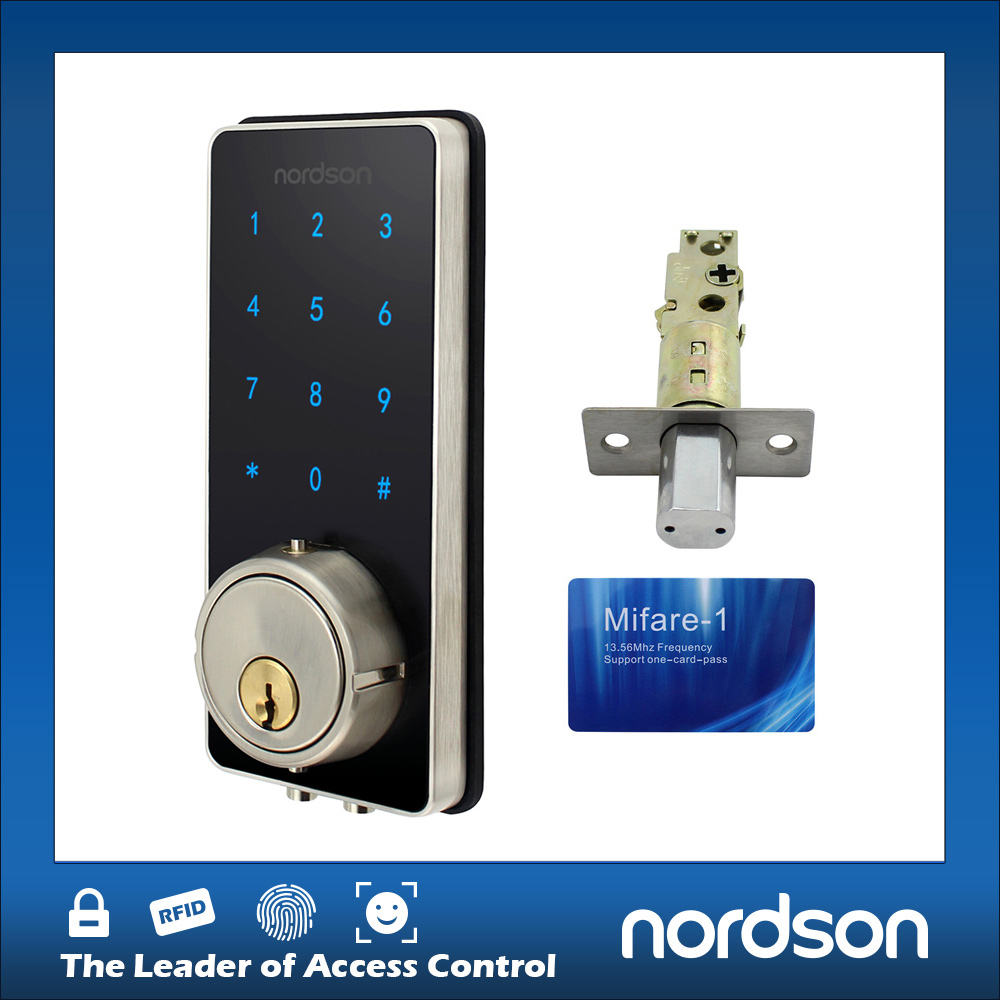 Brass Master Key Cylinder Electric Panel With Keypad Door Lock