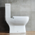 Sanitary ware two-piece bathroom floor mounted ceramic wc ceramic toilet