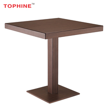 TOPHINE Furniture Wood Finish Aluminum Home Bar Table /Used Bar Tables