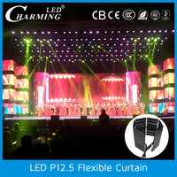 Indoor LED flexible video curtain wall light for club/stage/rental