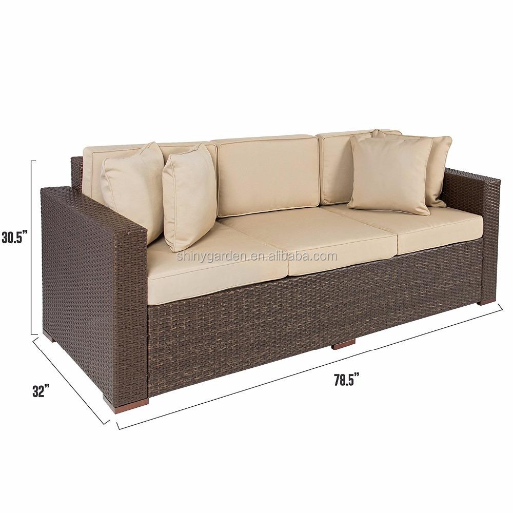 Patio esterno di lusso comfort in rattan di vimini divano in vimini mobili in rattan di vimini - Divano in rattan ...