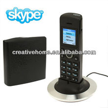 Dual-model No PC Required Cordless Skype and Landline Phone, Support Two Skype Account Login, Wireless transmission range: 50M