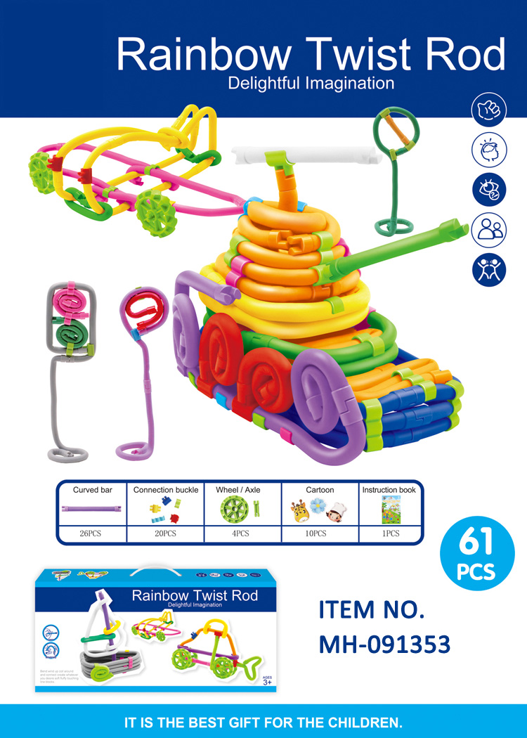Toys for kids 2018 rainbow twist rop toy