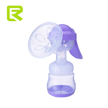 Reliable purple silicone manual type feeding baby breast pump