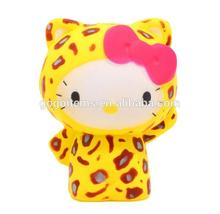 Custom squishy supplier cute charmmy kitty squishy soft rising toys with PU material