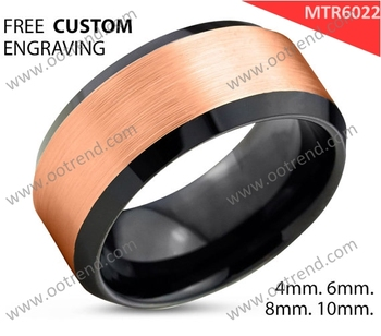 Special anti scraches material new gold ring models for men