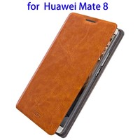 Wholesale Price Flip Leather PU Case for Huawei Mate 8, Wallet Case for Huawei with Stand